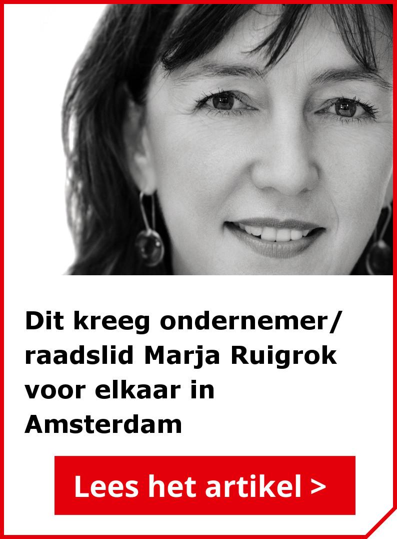 Marja Ruigrok, gemeenteraadslid voor de VVD Amsterdam