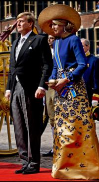 Koning Willem Alexander en koningin Máxima op Prinsjesdag