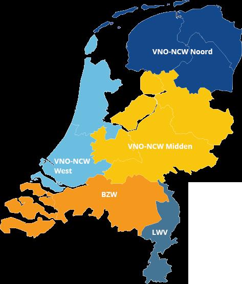 VNO-NCW regio's