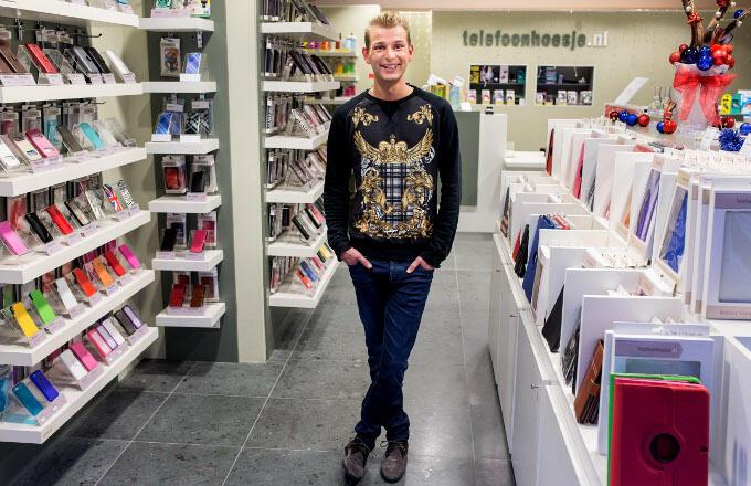 Bjorn Vriesema (Telefoonhoesje.nl): 'Met een kleine investering kon ik een fysieke winkel beginnen. Ik dacht: ik doe het gewoon'