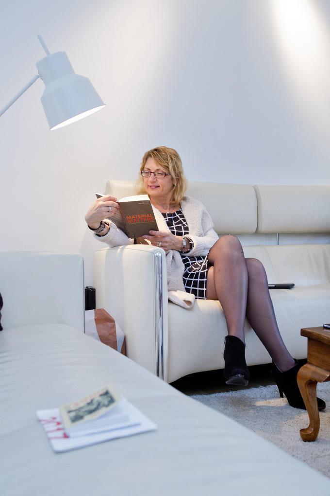 'Als je carrière wil maken, moet je je huishouden gewoon goed organiseren', zegt Tatjana Romanyk. 'Net als je bedrijf.' Dan heb je zelfs nog tijd om eens even rustig te lezen.