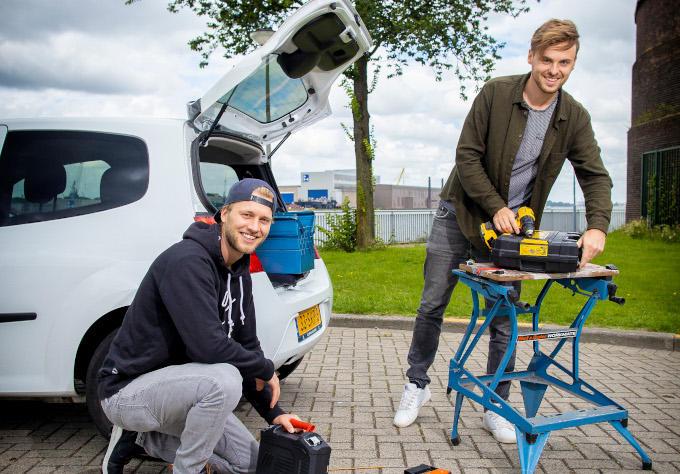 Arnoud Klop (links) en Matthijs Bijkerk