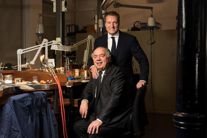 David Bijlsma mag dan niet zijn biologische zoon zijn, voor Benno Leeser (links op de foto) maakt dat geen verschil.