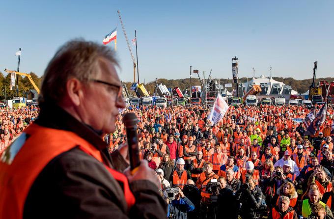 Grond in verzet organiseerde een demonstratie op 30 oktober vorig jaar waarbij ook andere ondernemersorganisaties aansloten
