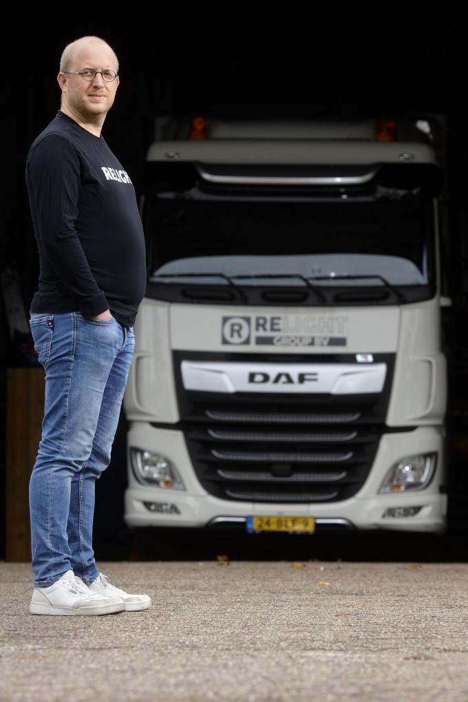 Na heel veel keer 'nee', kreeg Martijn Satter eindelijk een 'ja' op zijn aanbod voor transportdiensten. En daarmee was zijn nieuwe bedrijf 'geboren'
