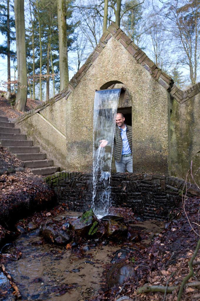 In Tuin de Lage Oorsprong bij Oosterbeek is Wouter Staal geregeld met zijn vrouw te vinden. 'Hier komen we op de beste ideeën'