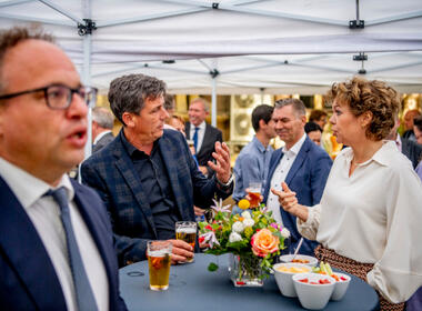 Prinsjesdagborrel 2021: Jacco Vonhof en Ingrid Thijssen