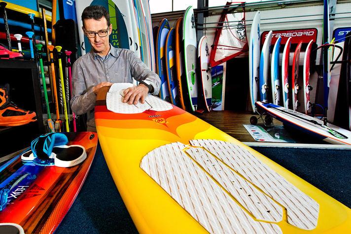 oud-windsurfer Stephan van den Berg