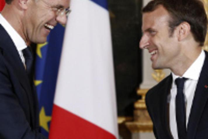 Rutte en Macron